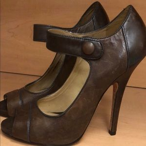 L.A.M.B chocolate brown heels